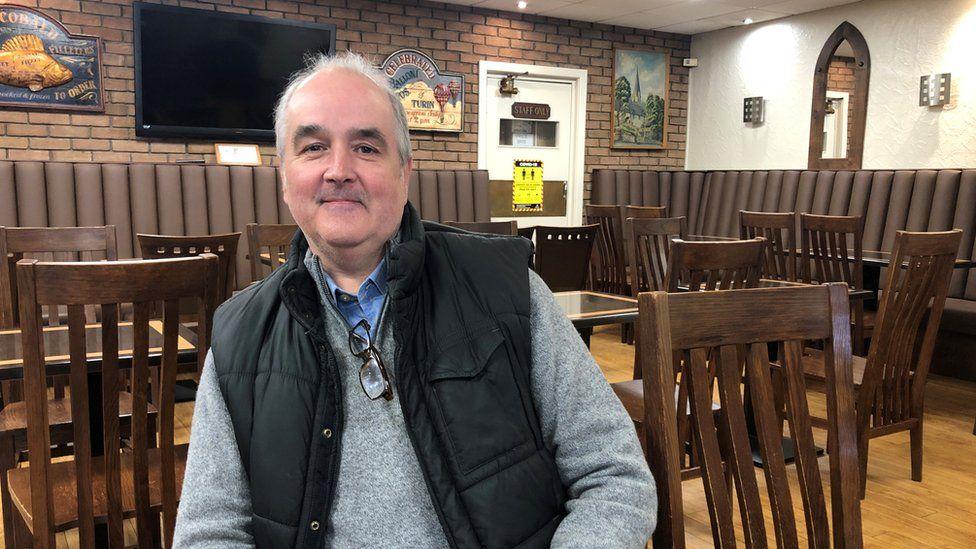 Marco Orsi who runs the Café Royale in Pontypridd