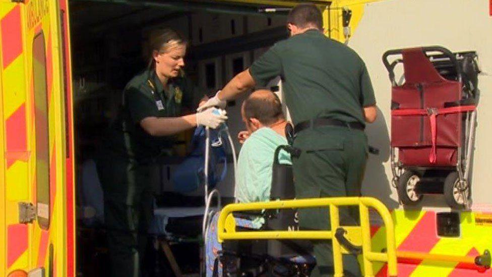 Ambulance at Glan Clwyd Hospital