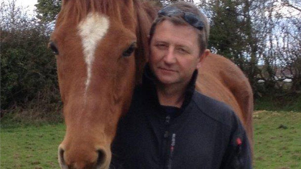 Phil Walker with a horse