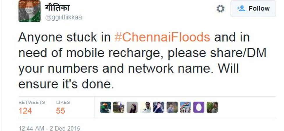 Anyone stuck in #ChennaiFloods and in need of mobile recharge, please share/DM your numbers and network name. Will ensure it's done.