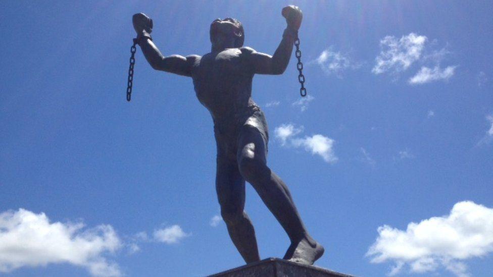 Emancipation statue, Haggatt Hall, St Michael