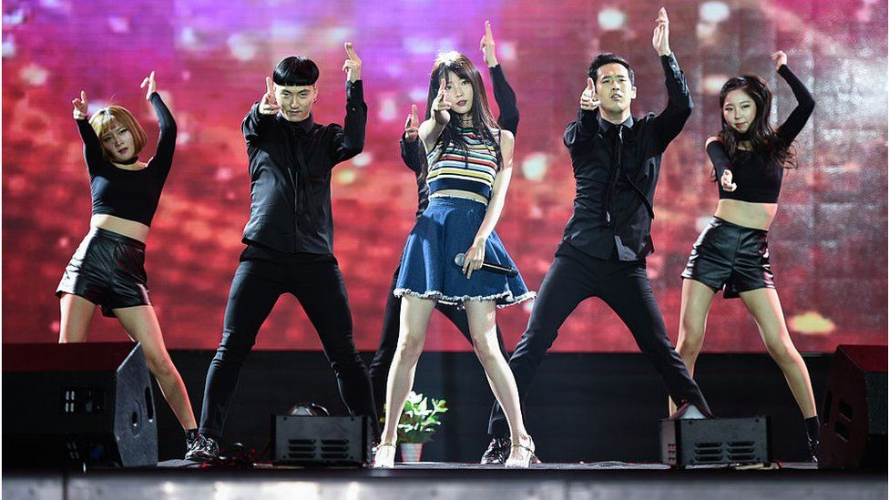 IU performing in Wuhan, China