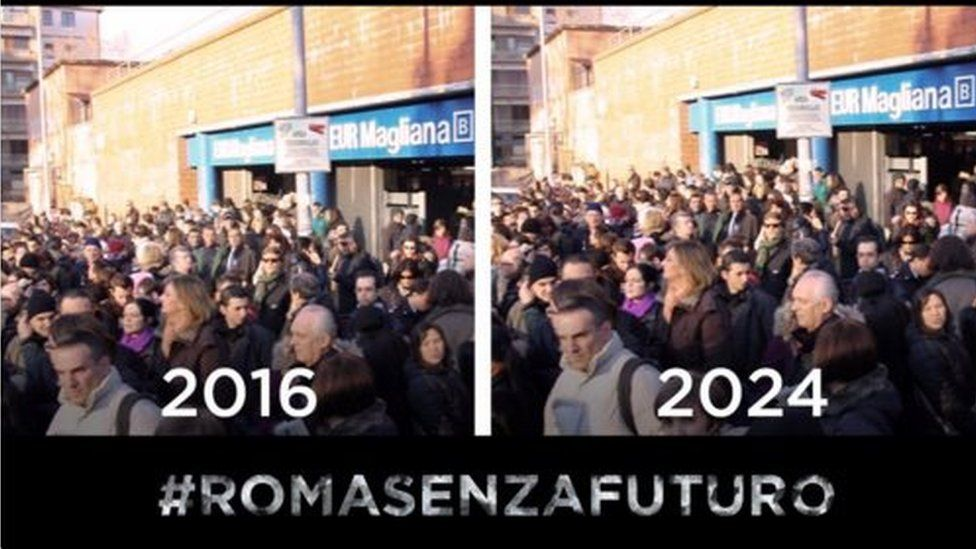 A Roma 2024 tweet showing how transport will lose out in Rome because of the decision