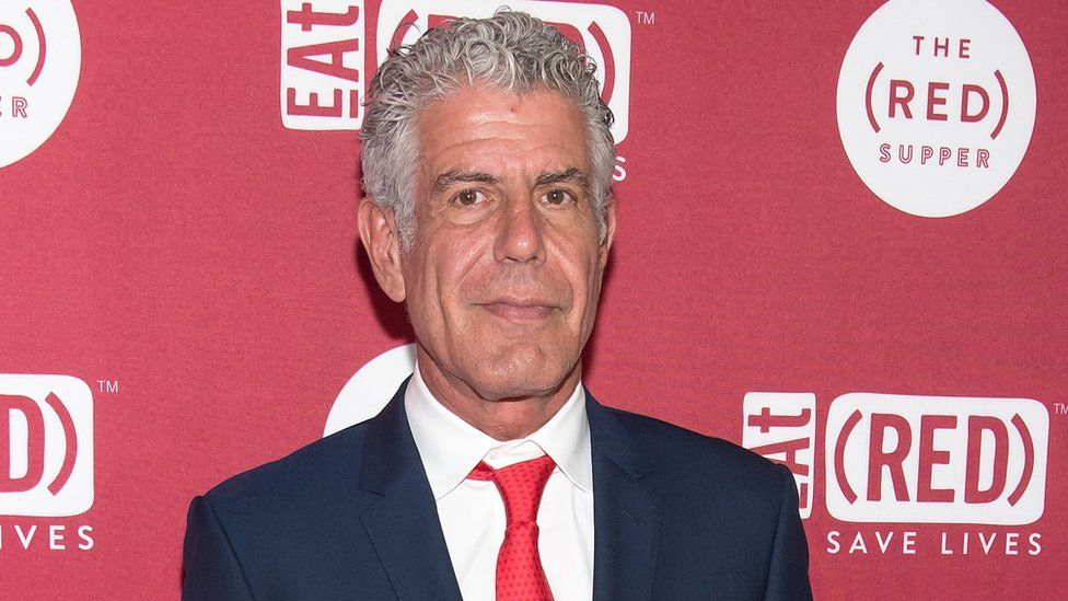 Chef Anthony Bourdain attends the The (RED) Supper hosted by Mario Batali with Anthony Bourdain at 225 Liberty Street on June 2, 2016 in New York City.
