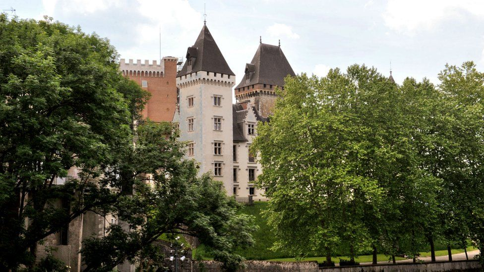 Pau castle in southern France