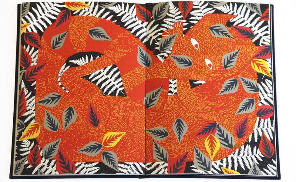 Fox illustration from book