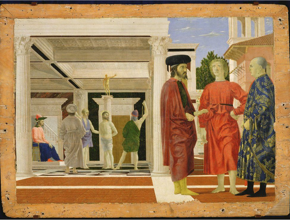 The Flagellation of Christ, (about 1463-4) by Piero della Francesca