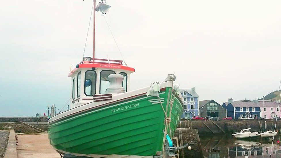 A boat at Aberaeron