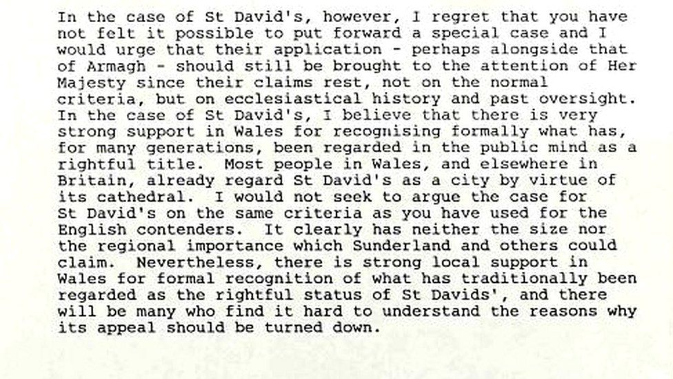 Excerpt from David Hunt's letter to Kenneth Baker