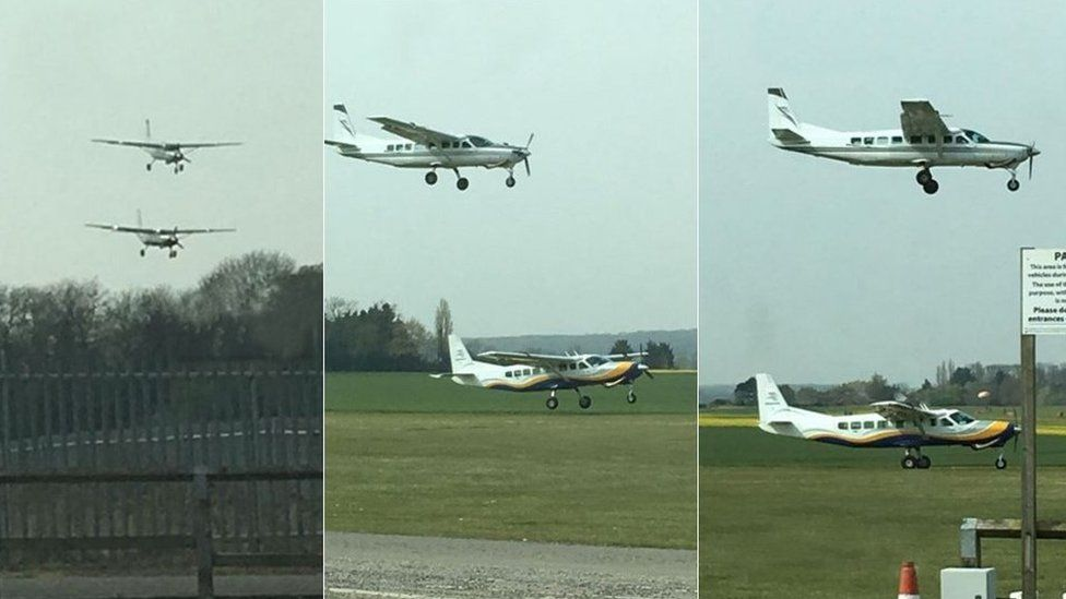 Photos show planes 'seconds from crash' at Sibson