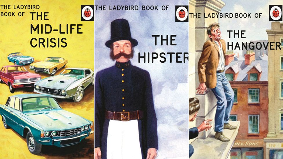 Composite of Ladybird books for adults
