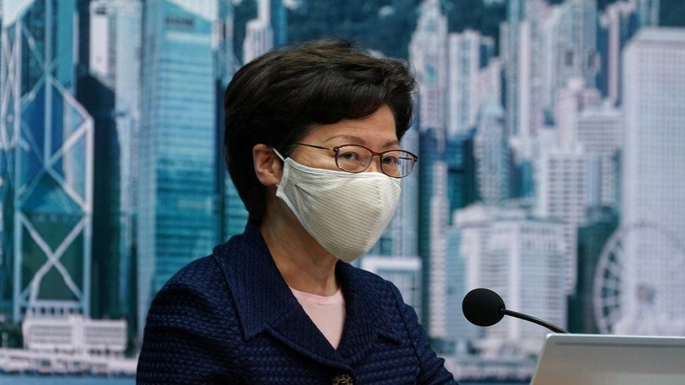 Carrie Lam on Friday 31 July