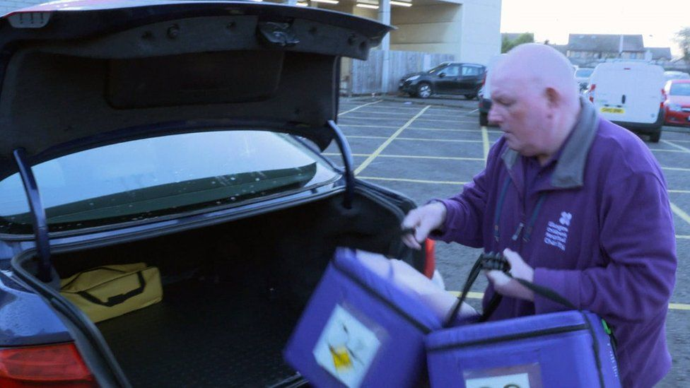Kenny Wilson, volunteer driver