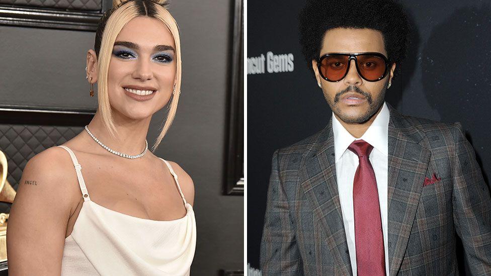 Dua Lipa and The Weeknd