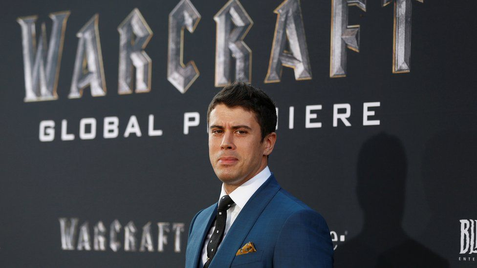 """Cast member Toby Kebbell poses at the premiere of the movie """"Warcraft"""" in Hollywood, California U.S., June 6, 2016."""