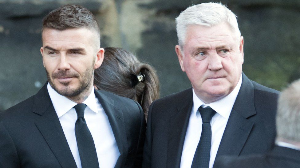 David Beckham and Steve Bruce