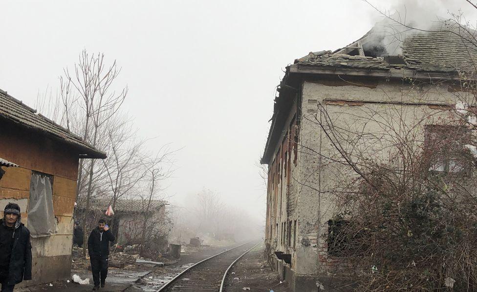 Derelict buildings in Subotica