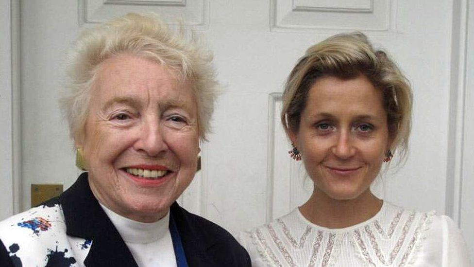 Dame Stephanie Shirley, pictured left with Baroness Martha Lane Fox in 2015