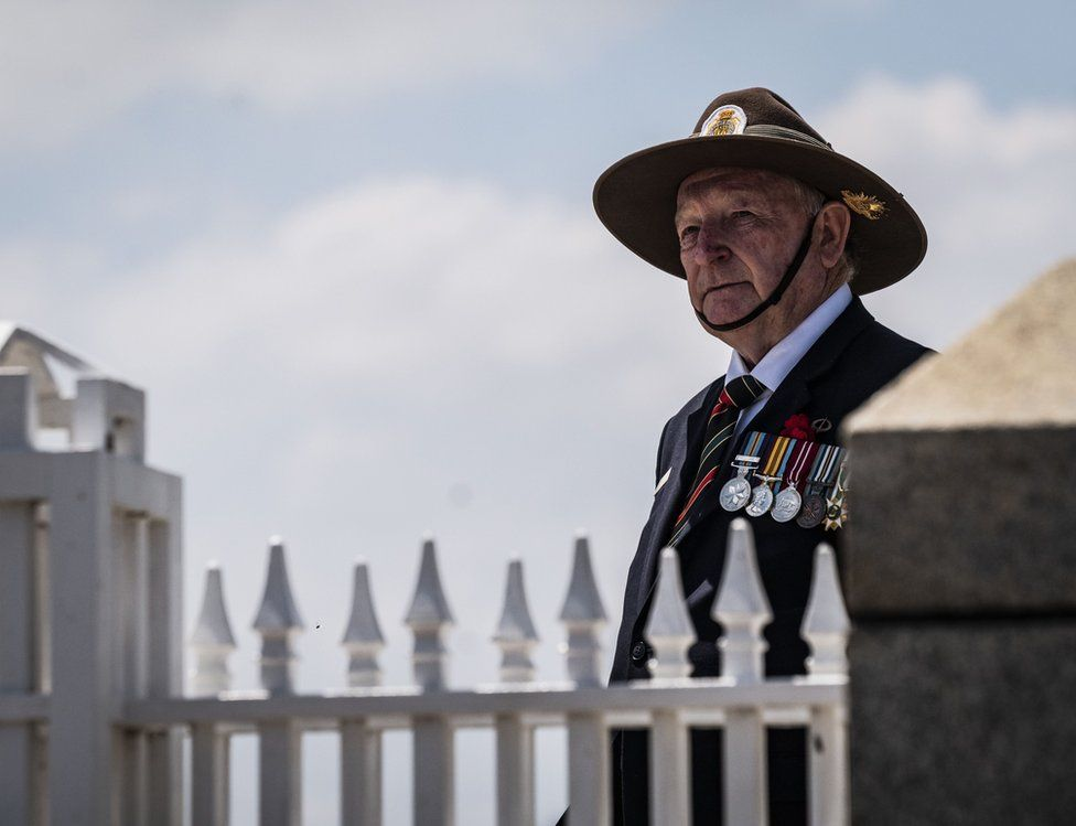 Remembrance Day commemorations at the WA State War Memorial in King's Park, Perth, Australia,