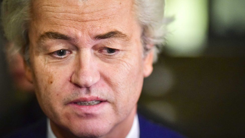 Close-up image of Geert Wilders