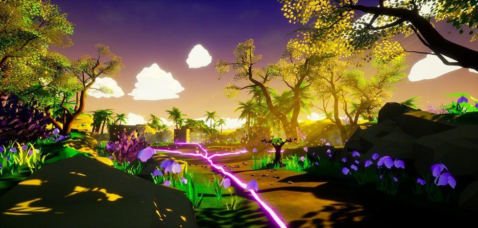 Otherworld virtual reality summer background