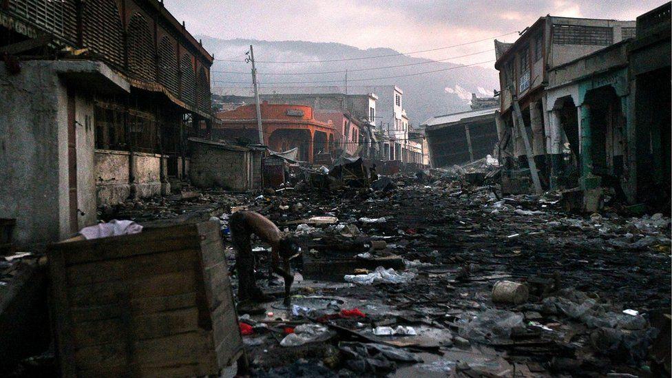 Destruction following the 2010 Haiti earthquake