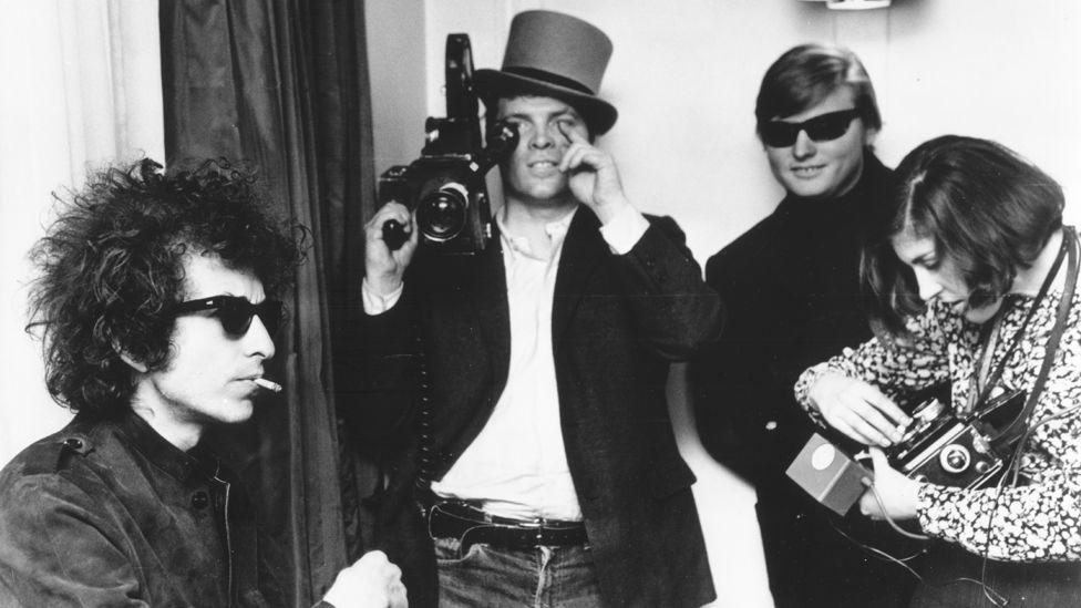 Bob Dylan with DA Pennebaker