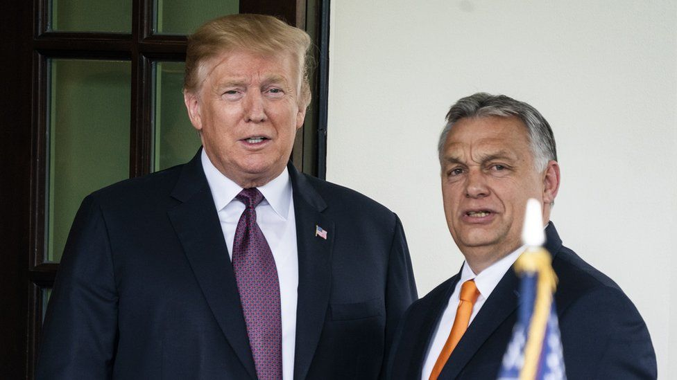 Viktor Orban with President Trump on 13 May