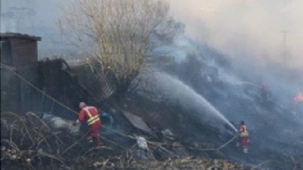 Fire fighters tackle blaze on Trebanog Hill