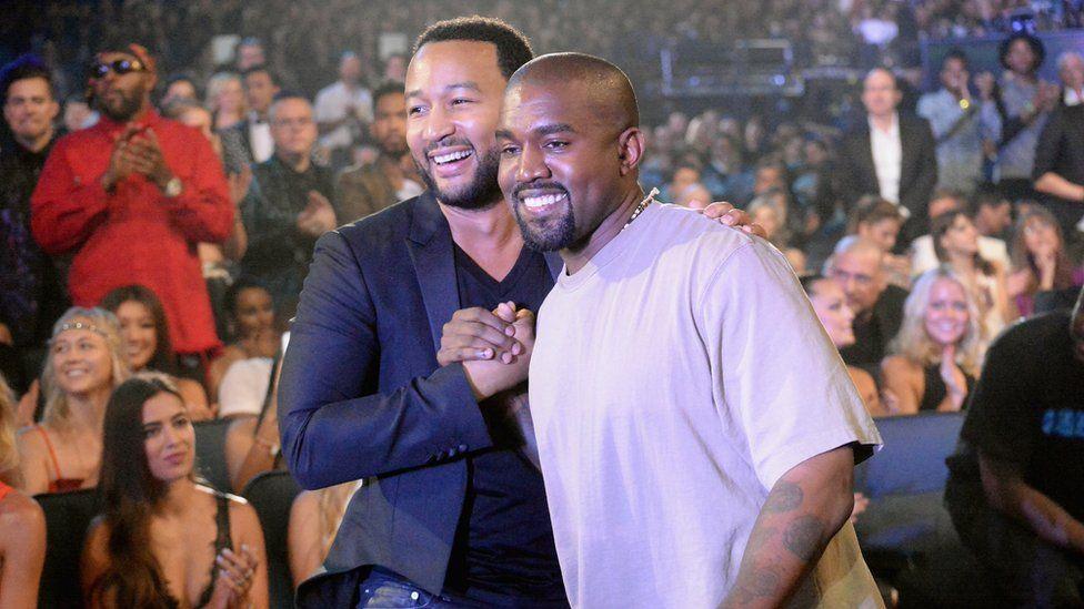 John Legend and Kanye West