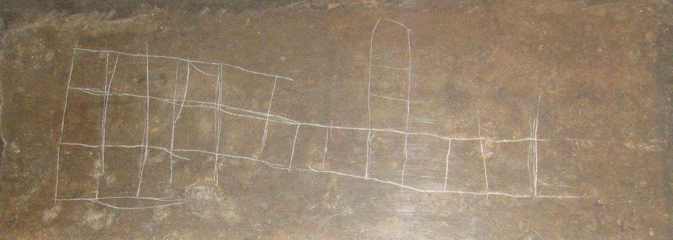 Graffito from a Lamassu sculpture in the British Museum