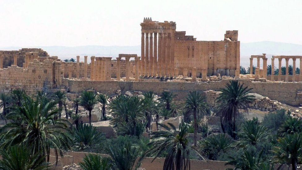 Ancient ruins of Palmyra (file photo released on 17 May 2015 by Syrian state news agency, Sana)