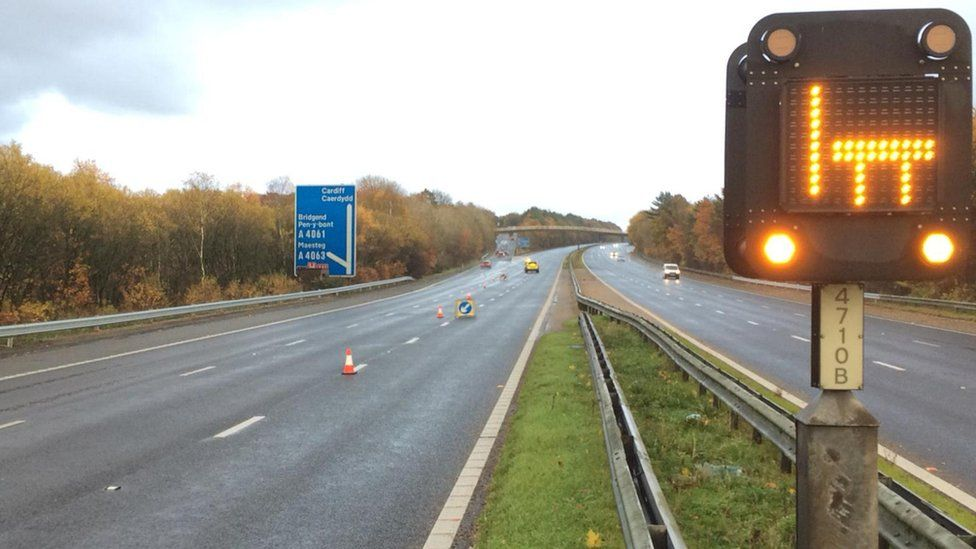 Junction 35 to 36 of the M4 which has been closed