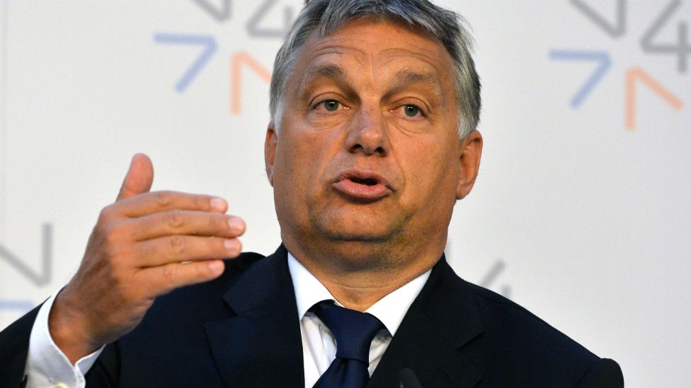 Hungarian Prime Minister Viktor Orban answers a question during a press conference following the Visegrad Group summit on migration in Prague - 4 September 2015