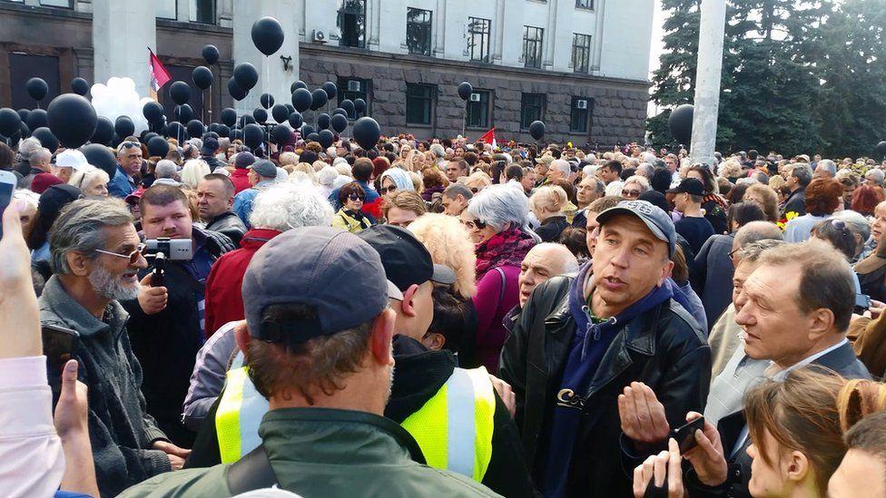 Траурный митинг на Куликовом поле в Одессе
