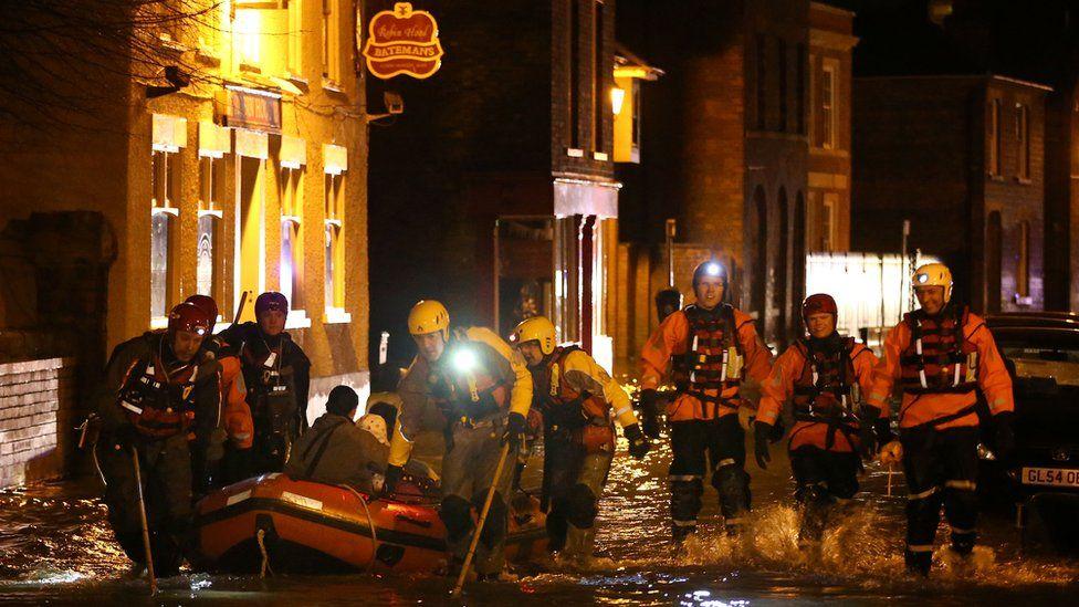 Storm surge in Boston, Lincolnshire