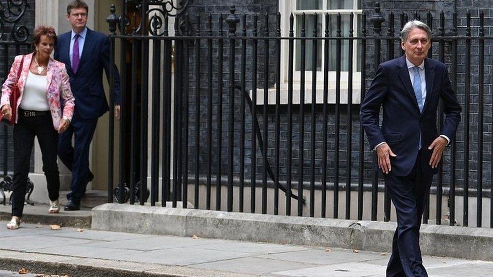 Philip Hammond leaving Downing Street in July
