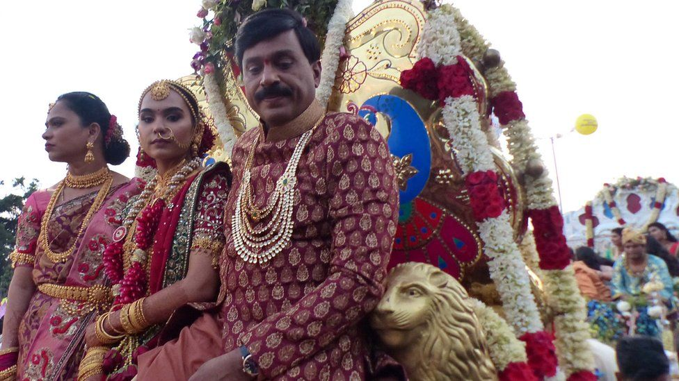 G Janardhana Reddy with his daughter