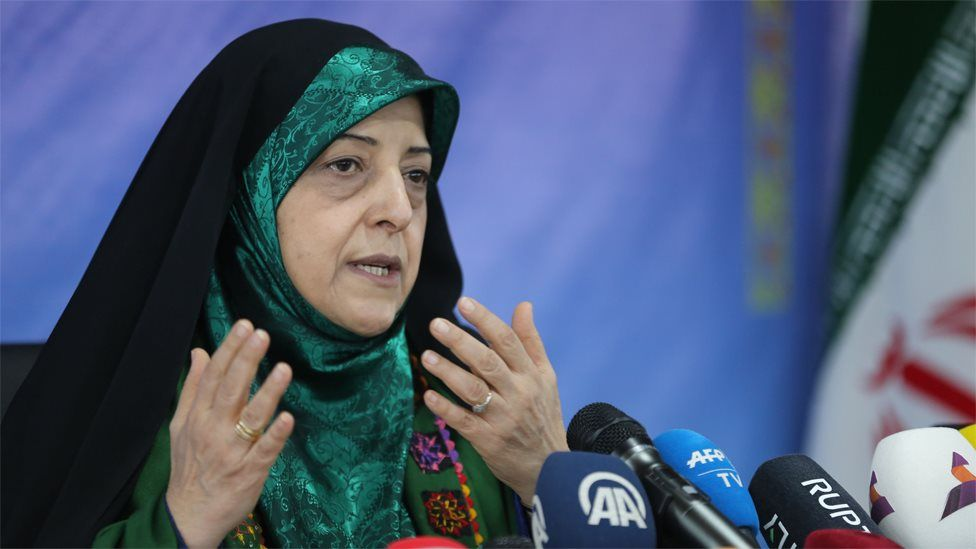 File photo of Iran's Vice-President for Women's and Family Affairs, Masoumeh Ebtekar (29 January 2019)