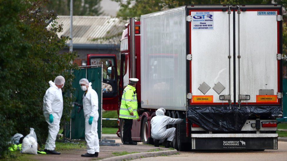 Forensic team at lorry