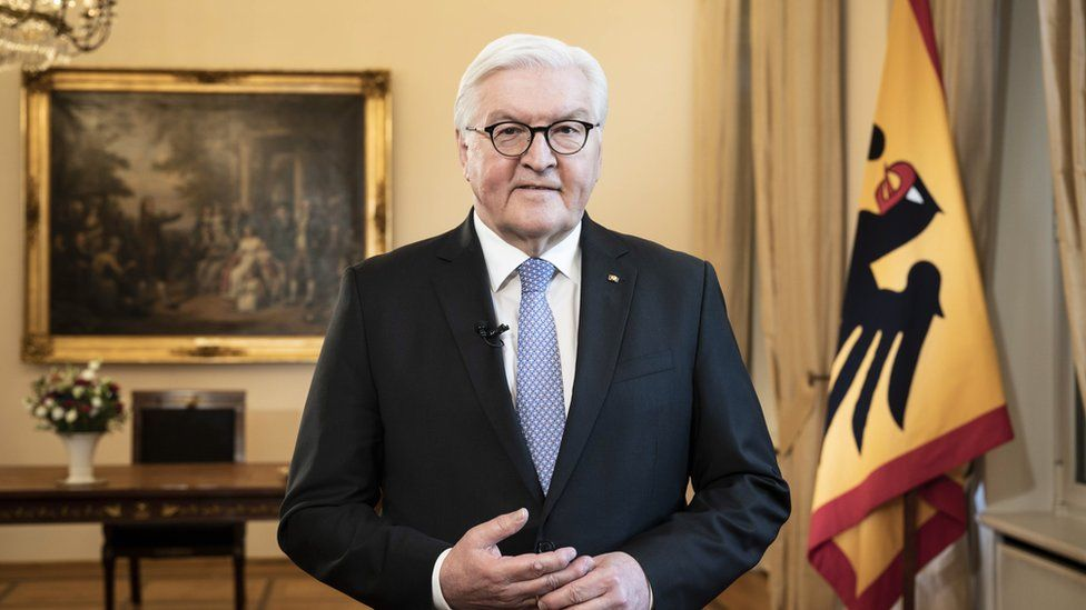 President Frank-Walter Steinmeier delivering address to the nation