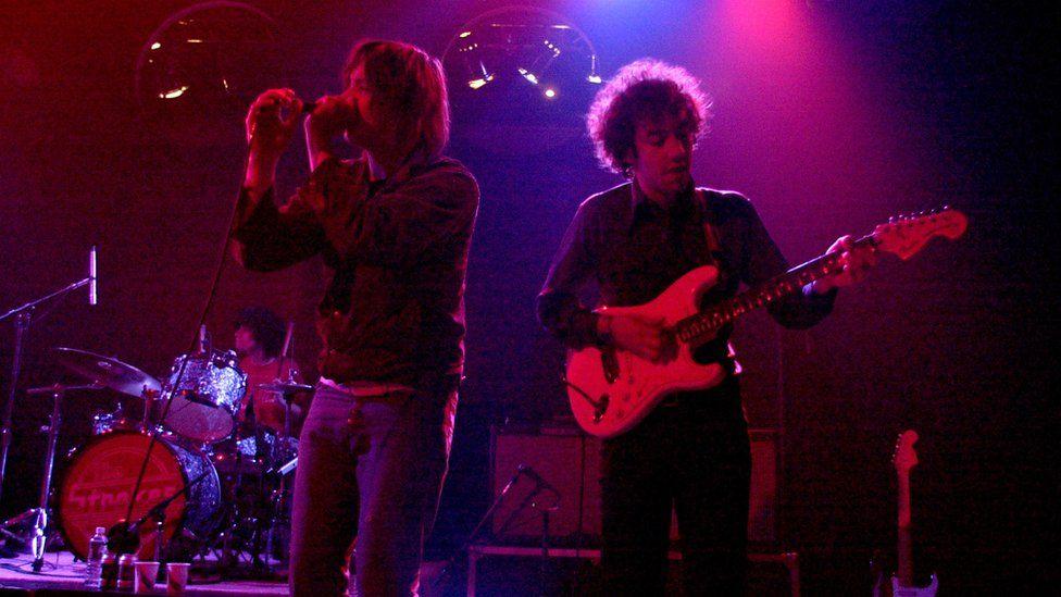 The Strokes In Concert at The Vanderbilt at The Vanderbilt in New York City in 2001