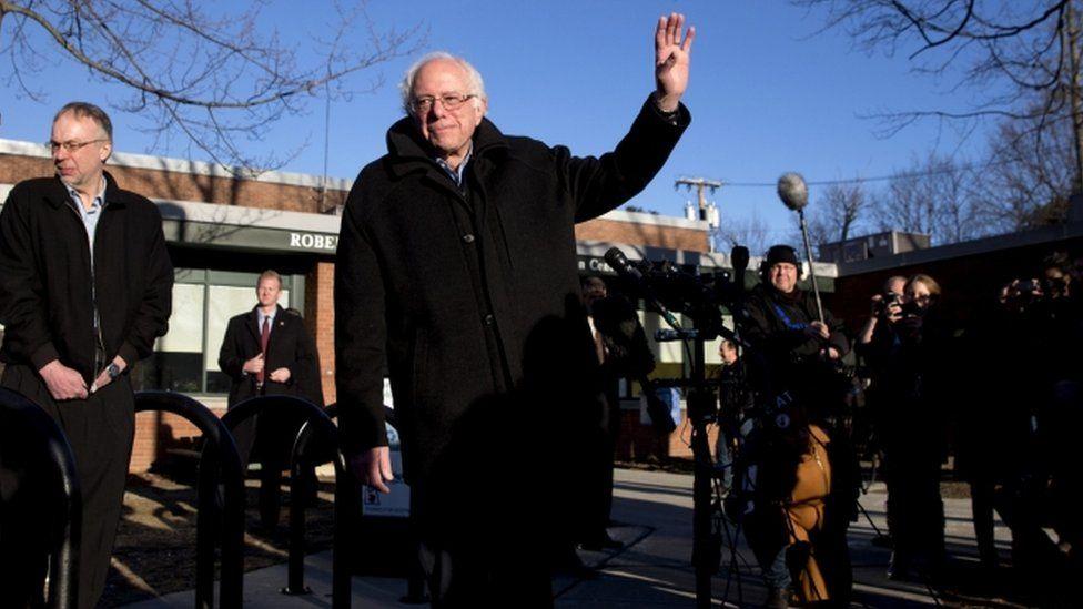 Bernie Sanders in Vermont, 1 March