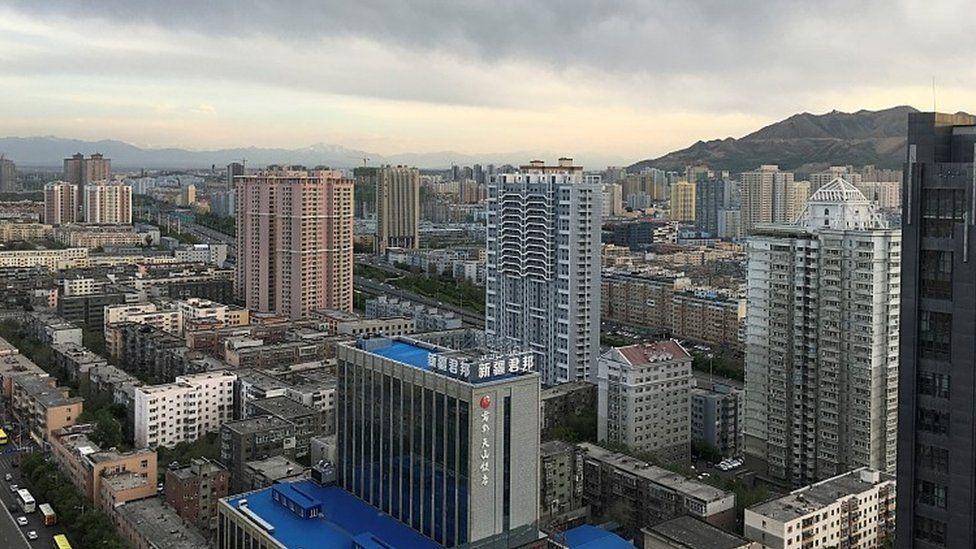 Urumqi, skyscape