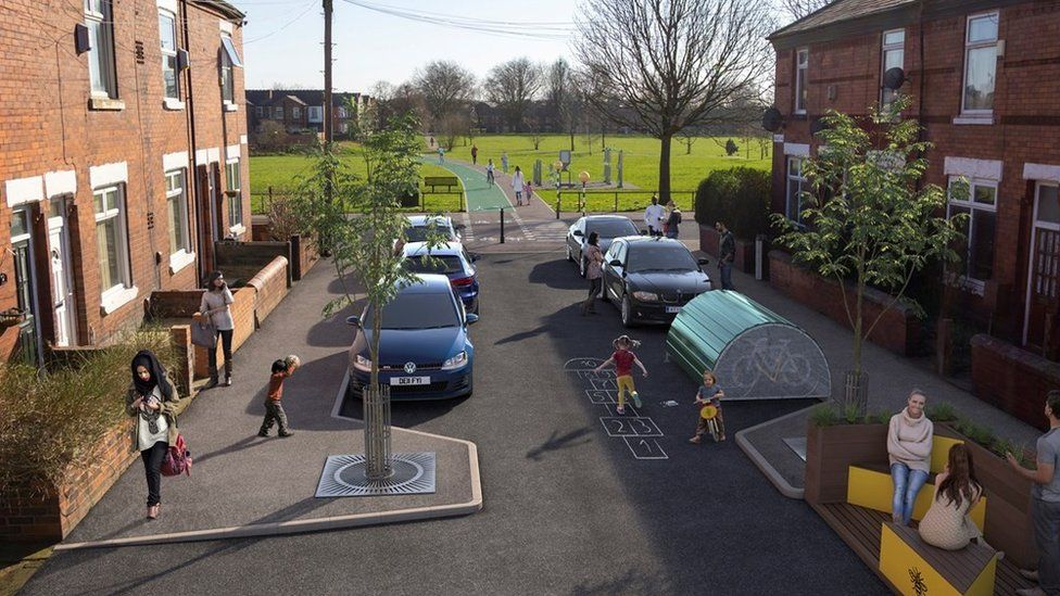 Visualisation for Audley Road, Levenshulme