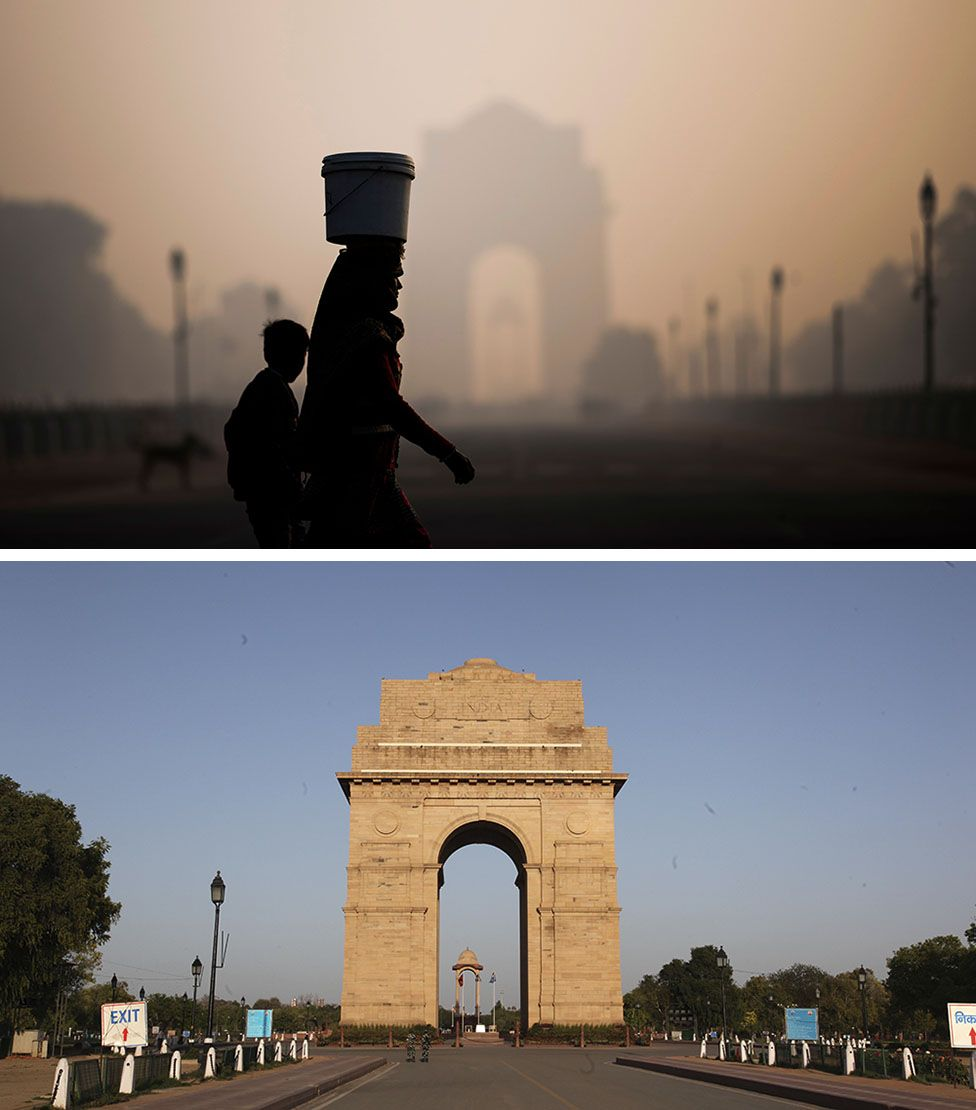 Delhi before and after the lockdown