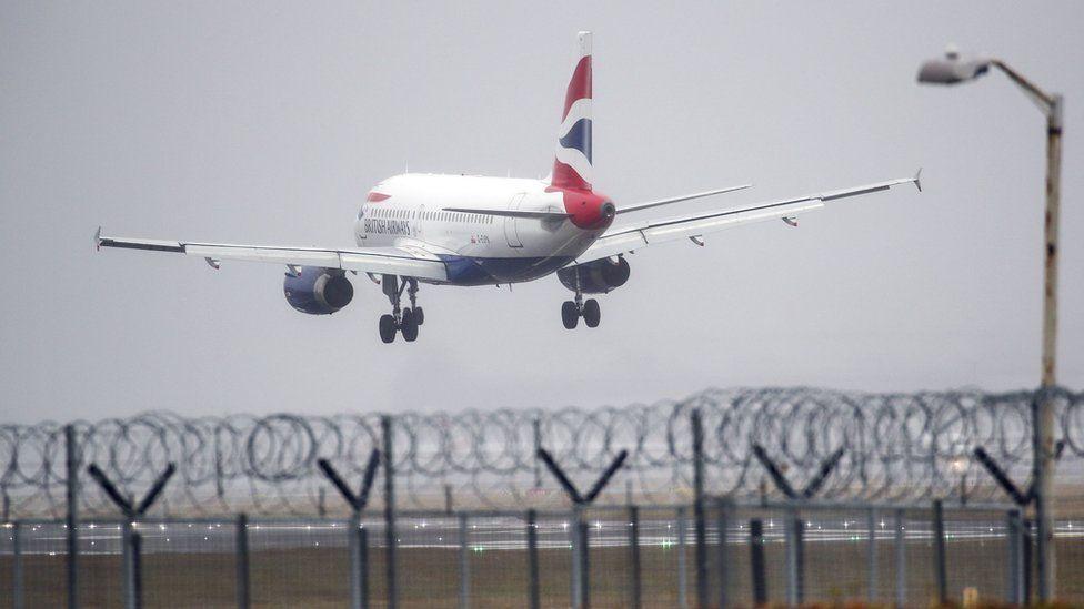 BA plane landing