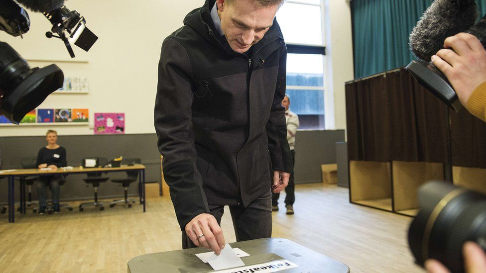 Kristian Thulesen Dahl voting