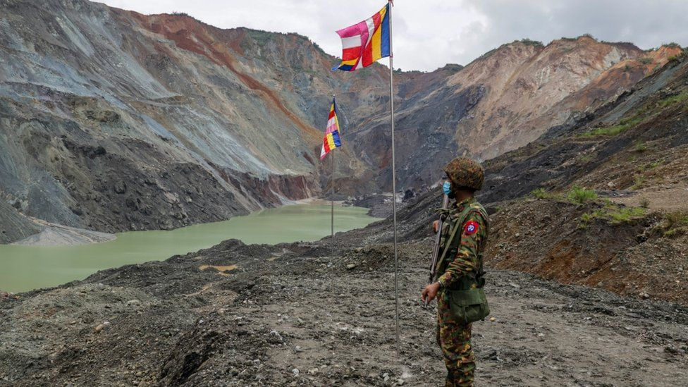 Myanmar Solider at the mine