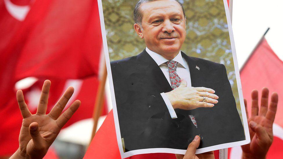 Pro-Erdogan protest